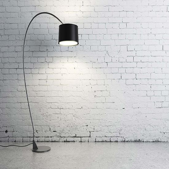 industriële staande lamp